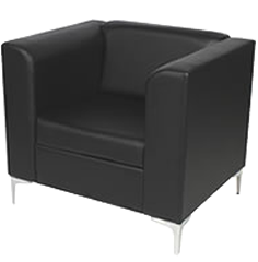 black leather chair hire